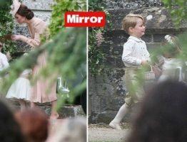 Baby George in lacrime mamma Kate lo sgrida al matrimonio di zia Pippa e il piccolo scoppia a piangere_20185043